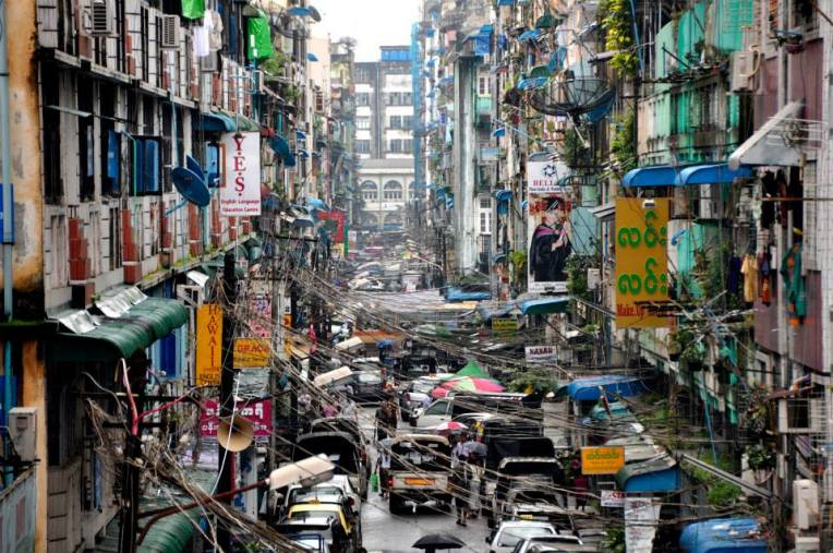 Organic, chaotic and dynamic streets of Yangon.