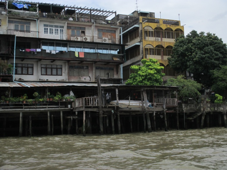 Houses along the  Chao Phraya need an upgrade.