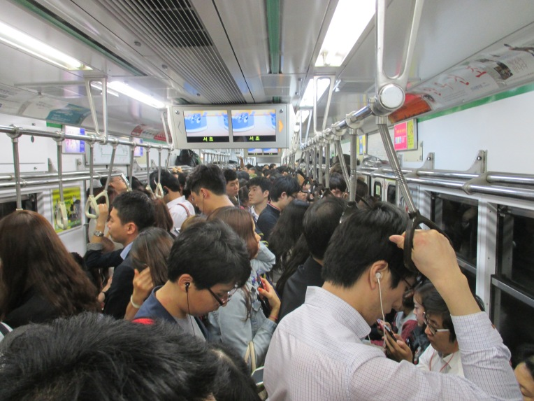 Nine lines of Seoul Metropolitan Subway carry almost 7 million commuters everyday. With underground phone reception, wifi and TVs, you are never bored.