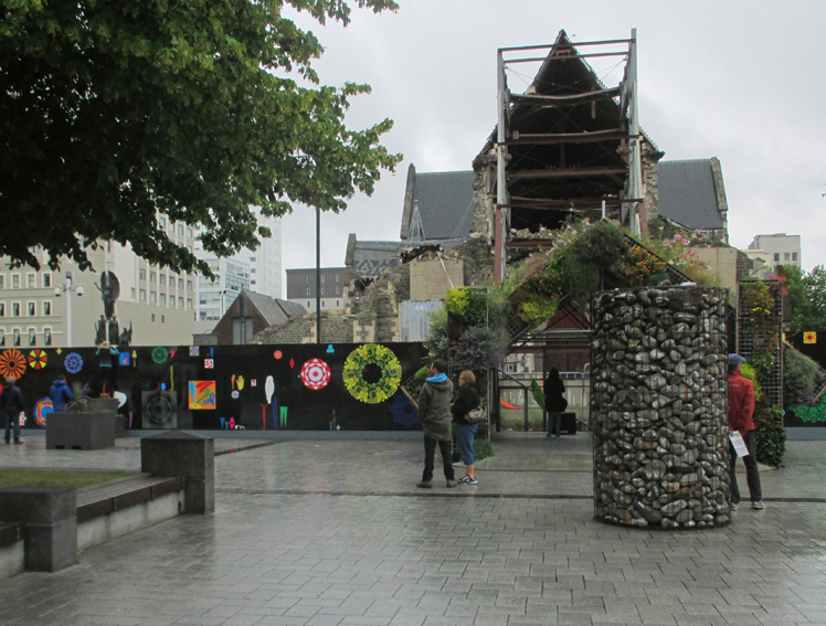 Skeletons of the Christchurch Cathedral remain for now.