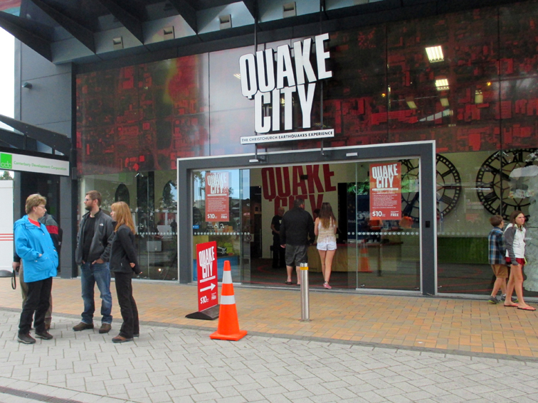 Many businesses died. Some new ones were created. Quake City offers a real earthquake experience.