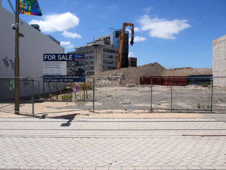 The site of former City Mall is cleared for new developments.