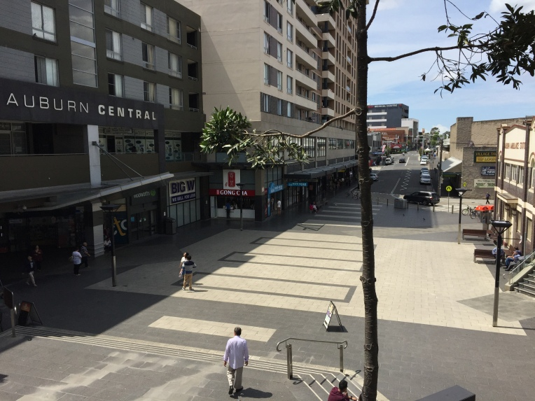 Large open space at the end of Queen Street remains empty in stark contrast to the shopping centre and S. Parade.